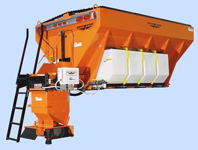 truck mounted salt drop spreaders